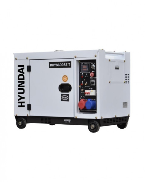 HYUNDAI DHY8600SE-T D Diesel Generator Frontansicht