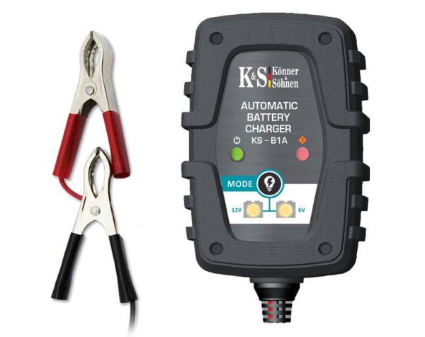 K&S Batterie-Ladegerät Frontansicht